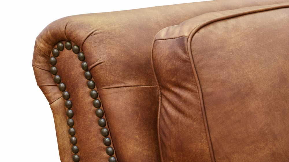 Carnegie Fawn Leather Sofa