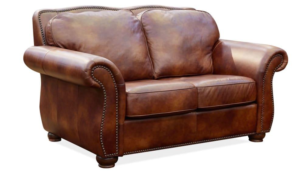 Navasota Leather Loveseat