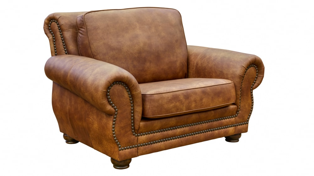 Carnegie Fawn Leather Chair, , hi-res