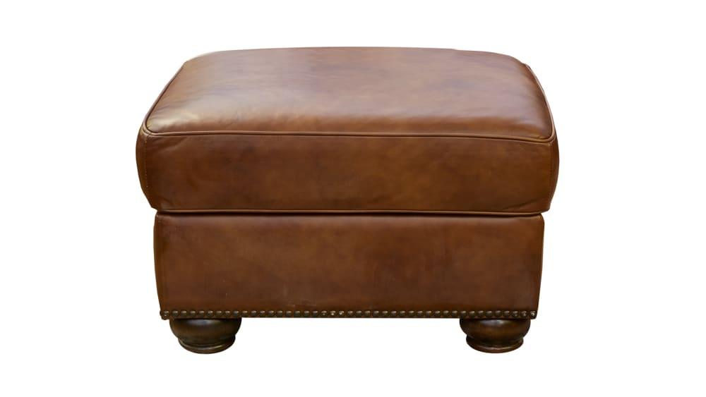 Navasota Leather Storage Ottoman