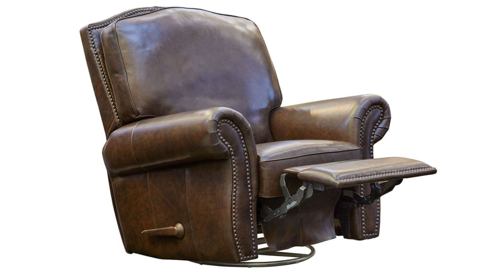 Silverado Leather Swivel Rocker Recliner, , hi-res