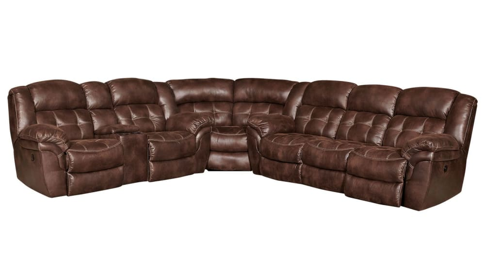 Marcelina Espresso Reclining Sectional