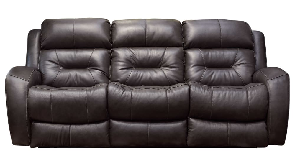 Showcase Maximus Fossil Leather Power Reclining Sofa W/Power Headrest