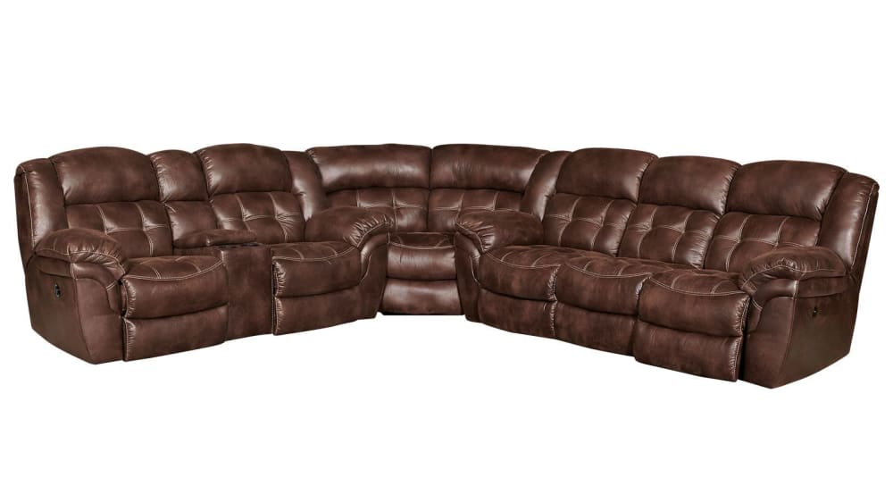 Marcelina Espresso Power Reclining Sectional, , hi-res