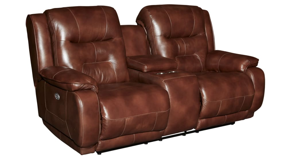 Crescent Power Reclining Loveseat with Console