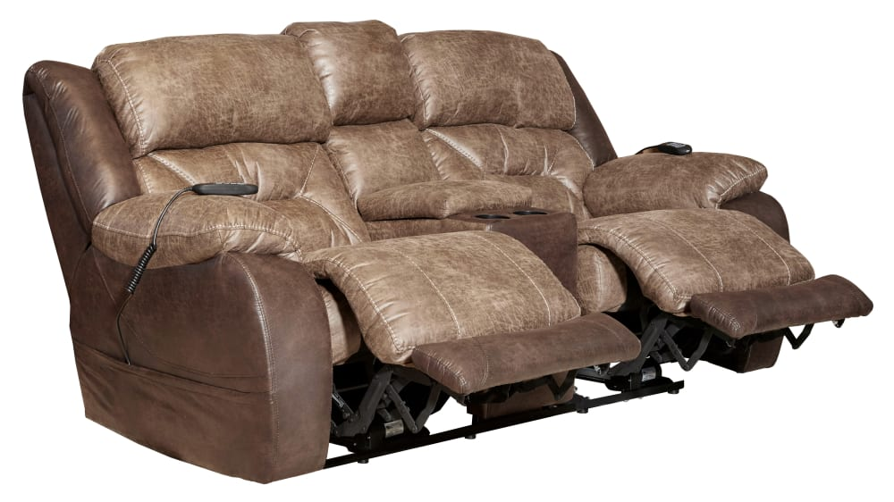Big Tex Power Reclining Loveseat W/Console, , hi-res