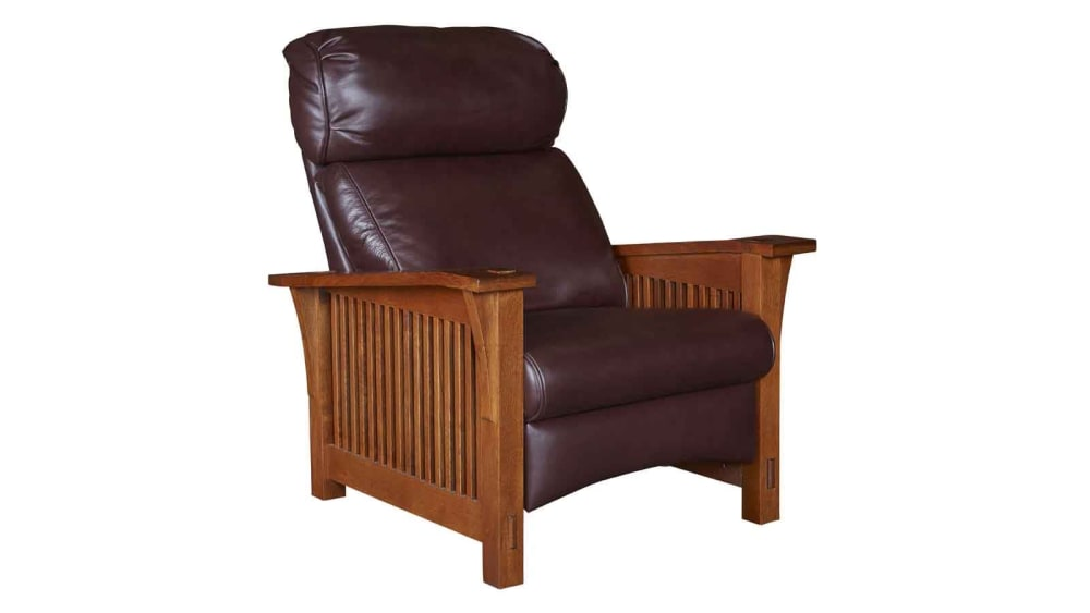 Stickley Bustle Back Spindle Side Morris Recliner, , hi-res
