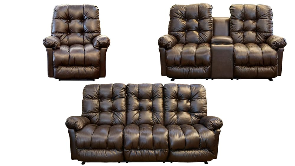 Walnut Everlasting Power Reclining Set w/Console, , hi-res
