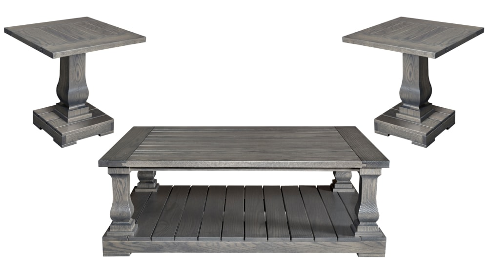 Antique Gray Cocktail Table Set, , hi-res