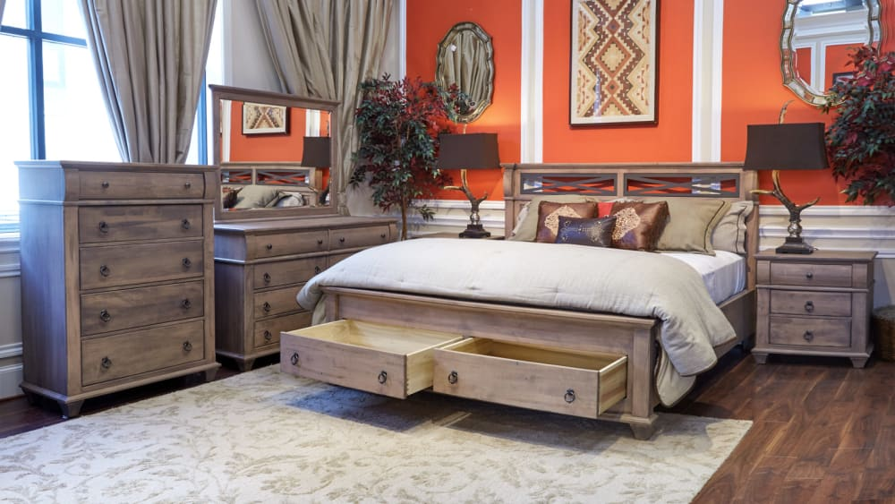 Reminisce Driftwood Queen Bed, , hi-res