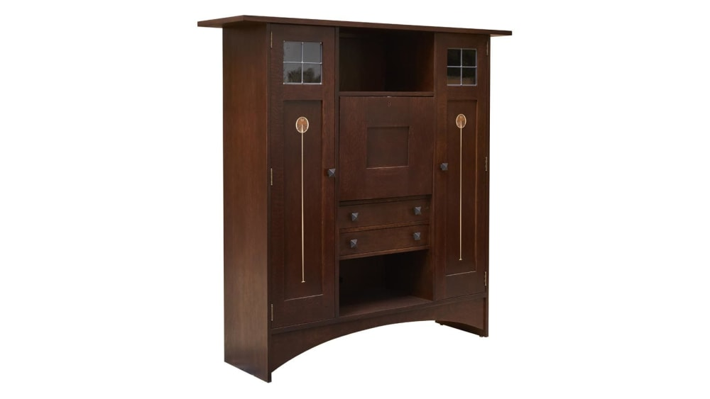 Stickley Harvey Ellis Fall Front Bookcase, , hi-res