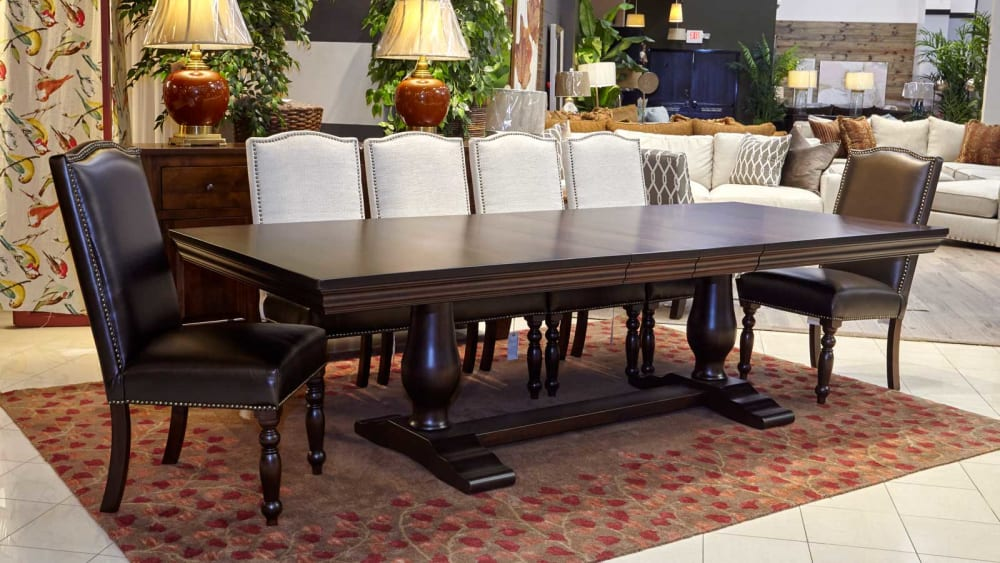 Java Dining Table with Carson and Vanderbilt Chairs, , small