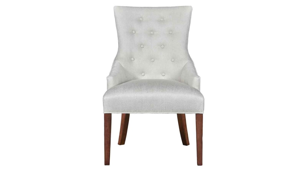 Stickley Manchester Hostess Chair in Pearl White