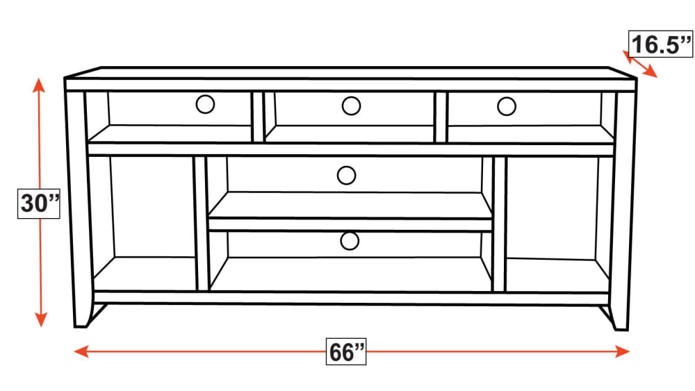 "Legends Urban Loft 66"" TV Console"