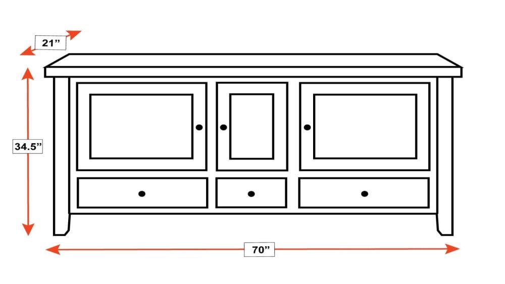 """San Antonio 70"""" TV Cabinet, , hi-res"""