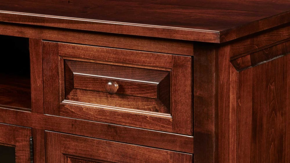 Brenham Brown Maple Media Console