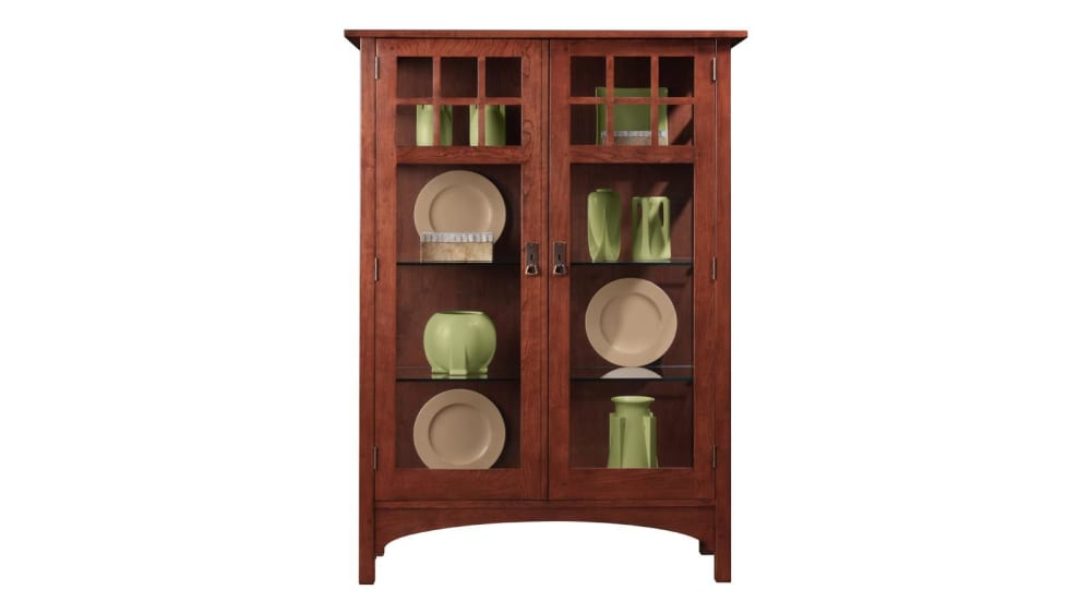 Stickley 2017 Collector's Edition Cabinet With Glass Panel Front & Sides