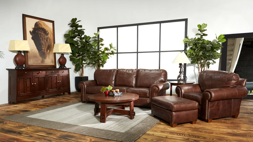 Stickley Stetson Santa Fe Leather Sofa