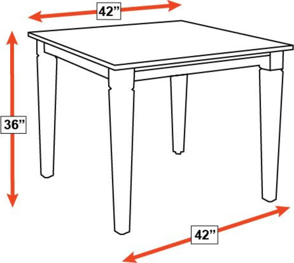 "Savanna 42"" Counter Height Square Table, , hi-res"