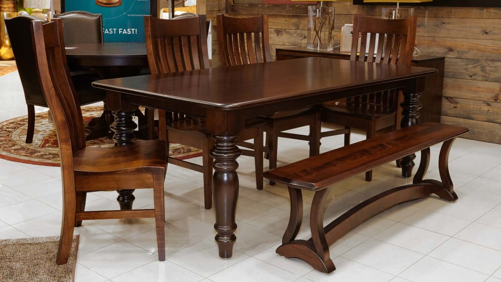 Needville Table with Bench and Chairs Dining Room Set, , small