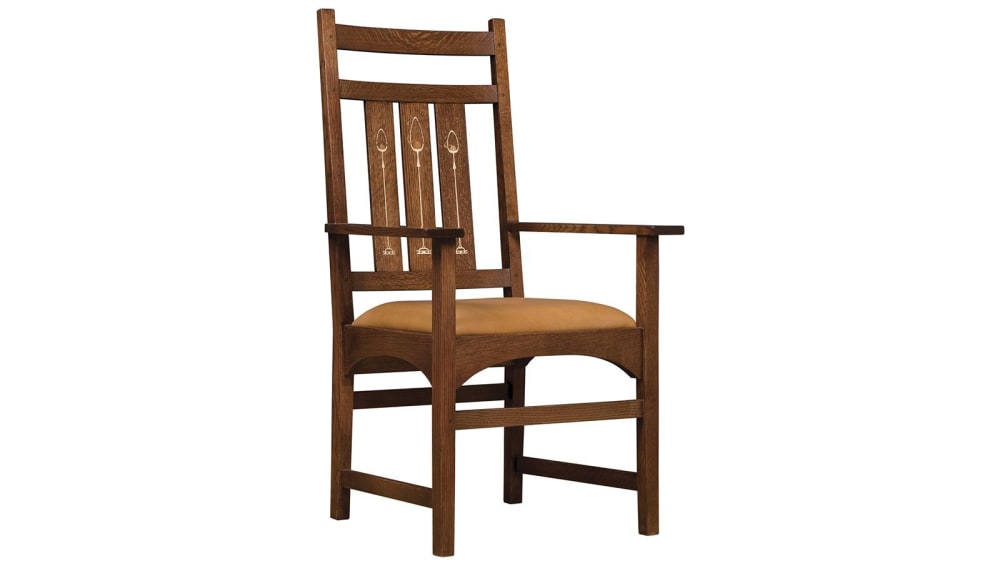 Stickley Harvey Ellis Arm Chair With Inlay, , hi-res