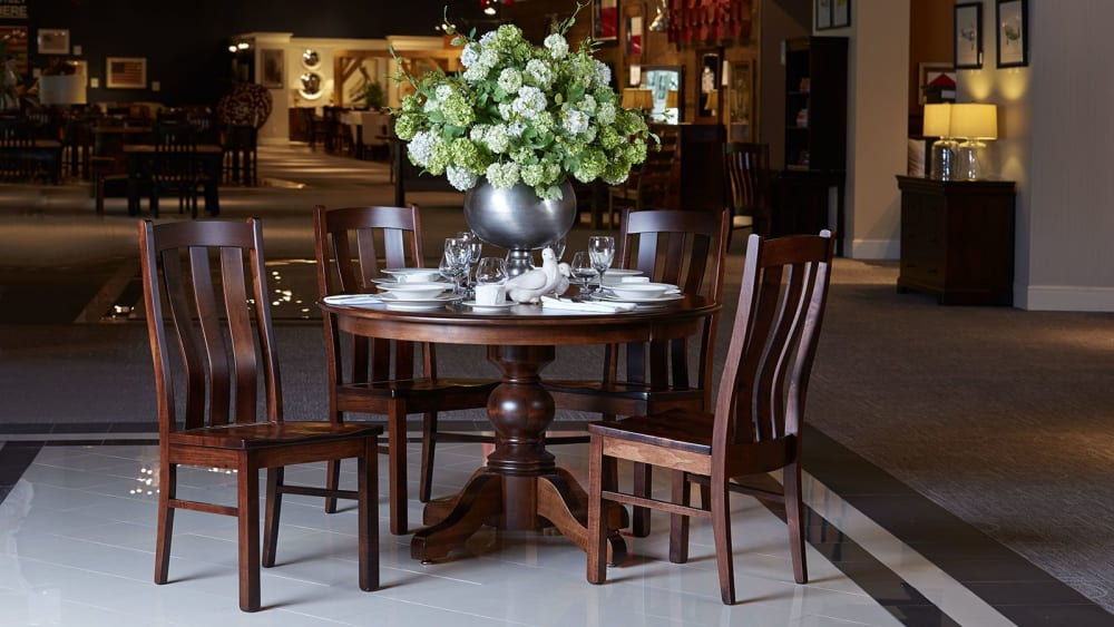"""Baytown Asbury Maple 54"""" Round Dining Table"""