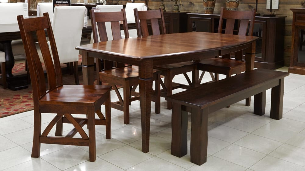 Pendleton Dining Table with Bench and Chairs, , small