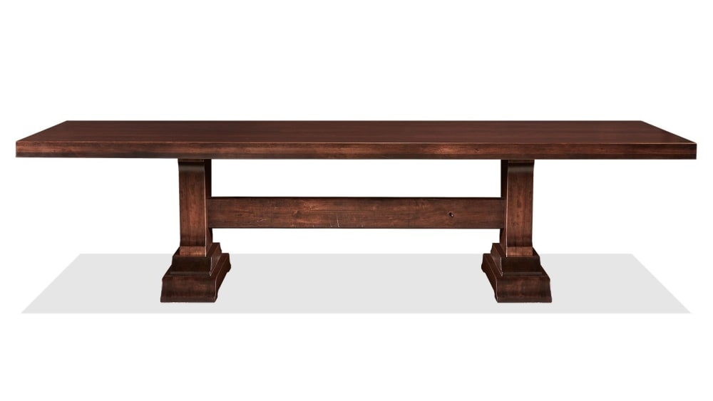 Huntsville Solid Cherry Wood Trestle Dining Table, , hi-res