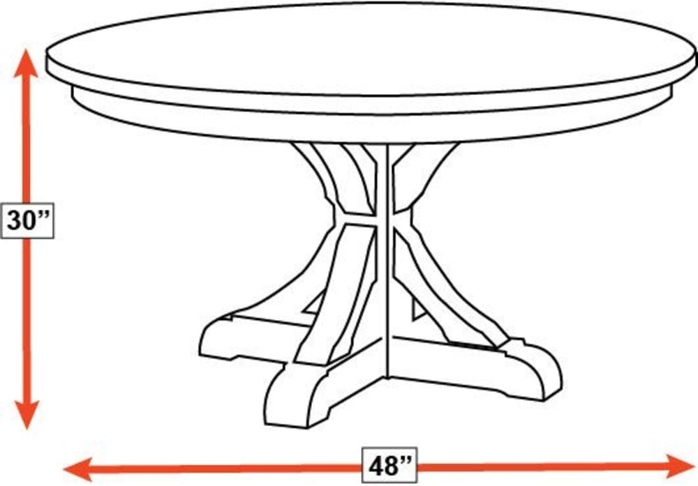"Henderson 48"" Round Table"