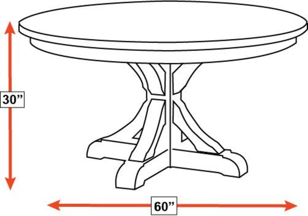"""Harlingen 60"""" Oak Dining Table, , hi-res"""
