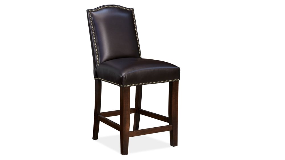 Round Rock Leather Counter Chair