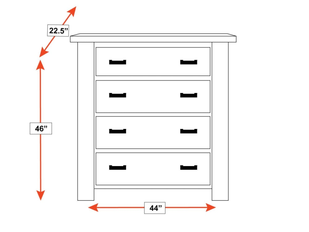 Uvalde 4-Drawer Chest