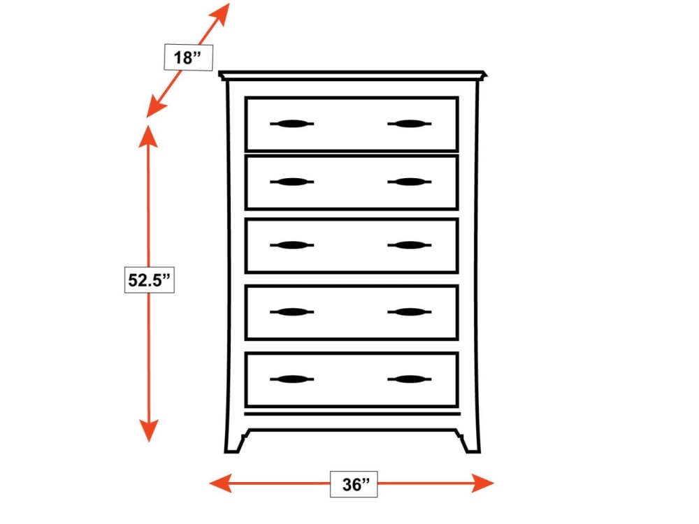 Rockdale 5-Drawer Chest, , hi-res