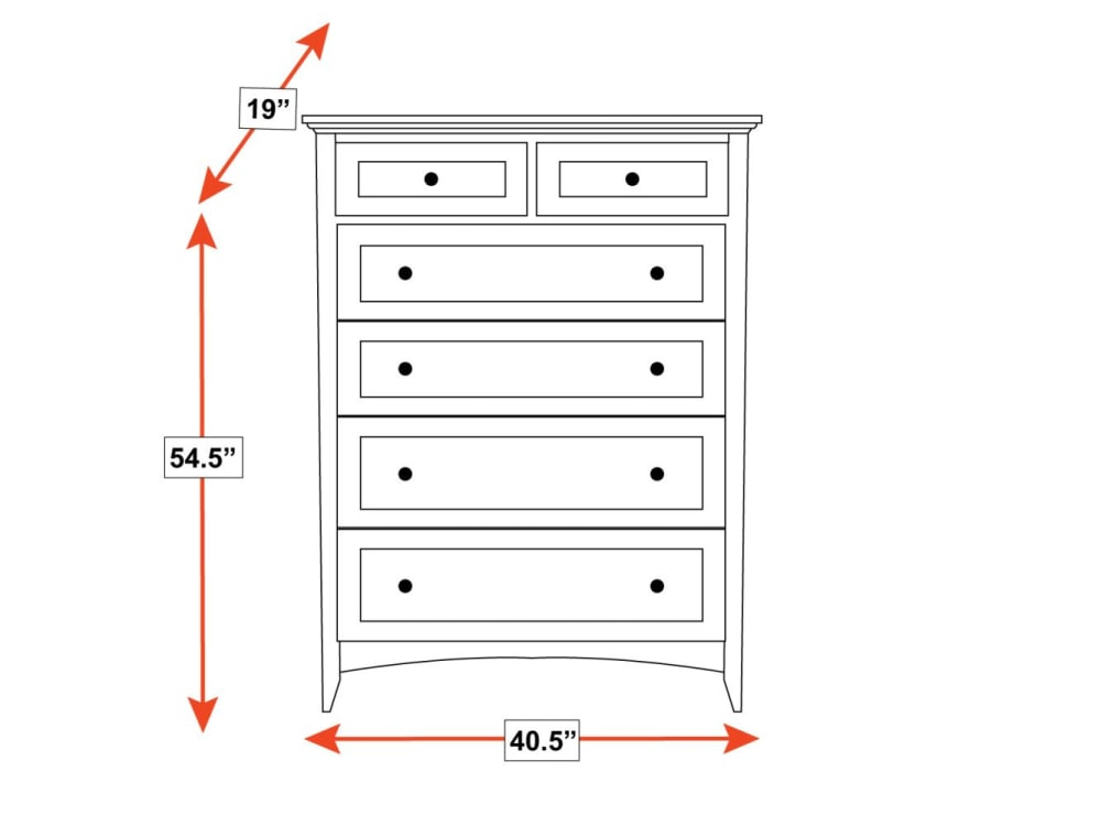 Lake Houston 6-Drawer Chest, , hi-res