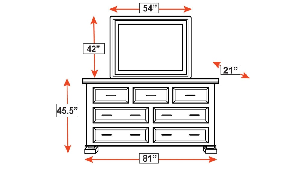 Big Bend Dresser and Mirror