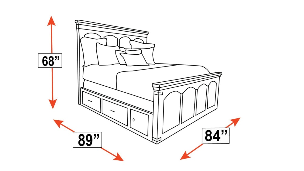 Larchmont King Storage Bed, , hi-res