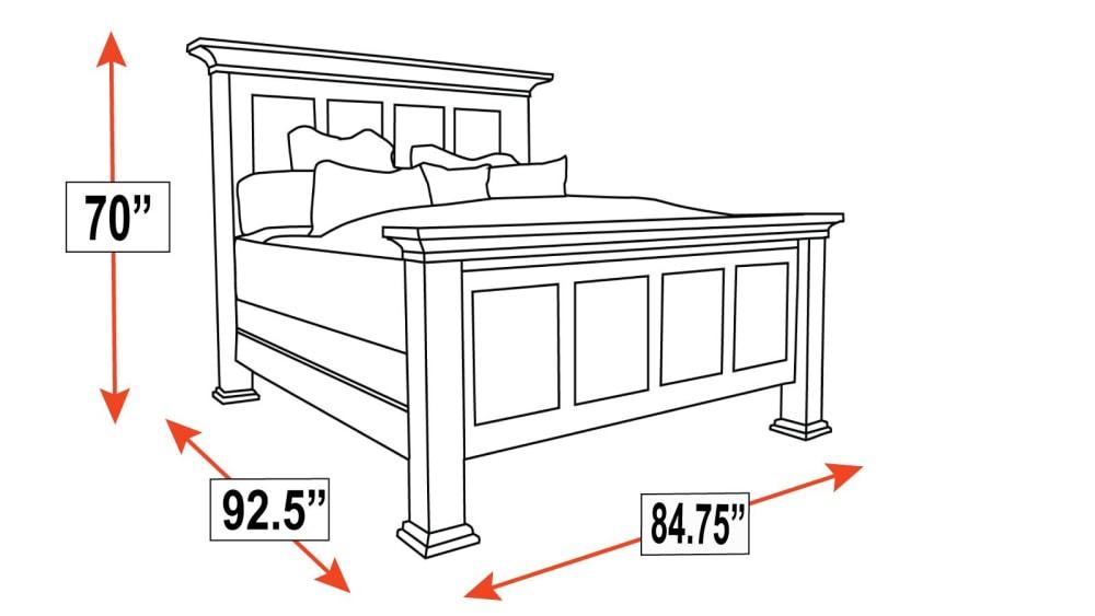 Galena Park King Bed