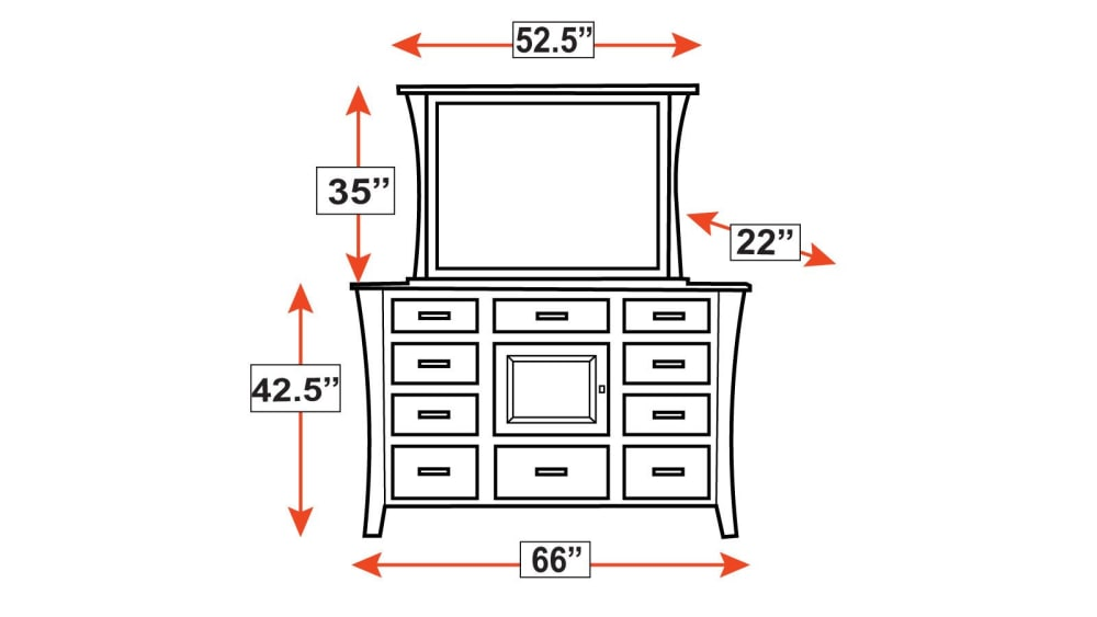East Bernard Dresser & Mirror