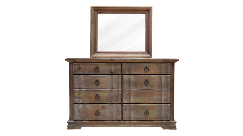 Rustic Hill Dresser and Mirror