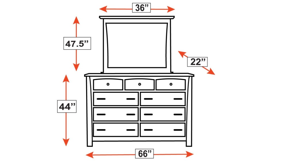Caldwell Dresser and Mirror