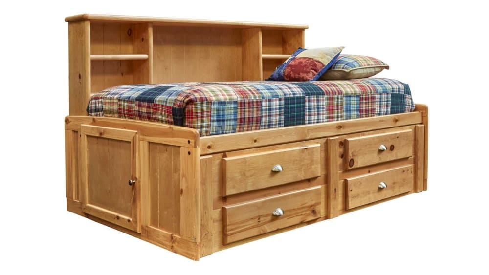 Turkey Creek Caramel Full Captains Bed