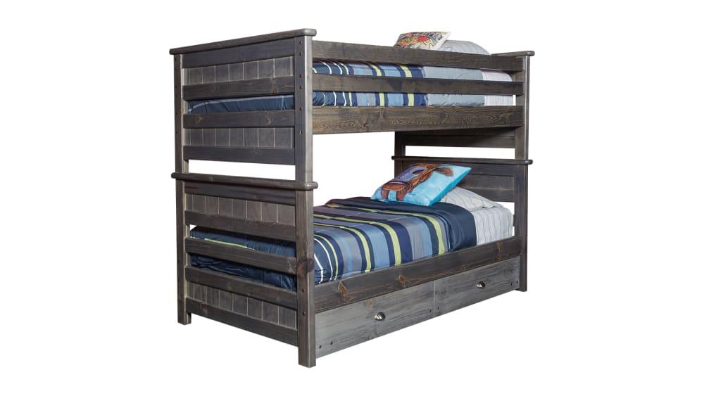 Turkey Creek Rustic Gray Full over Full Bunk Bed