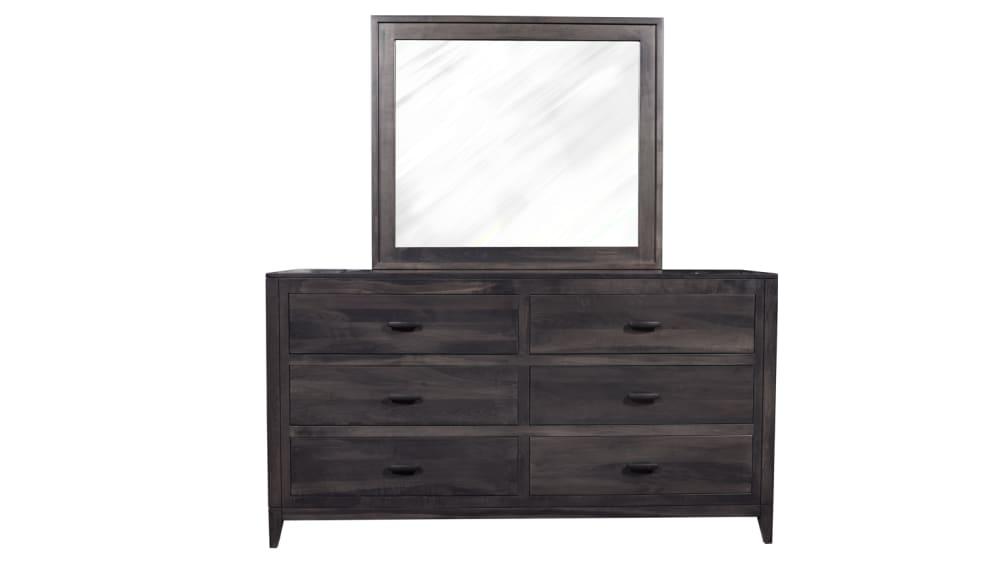 Modern Storm Grey Dresser and Mirror