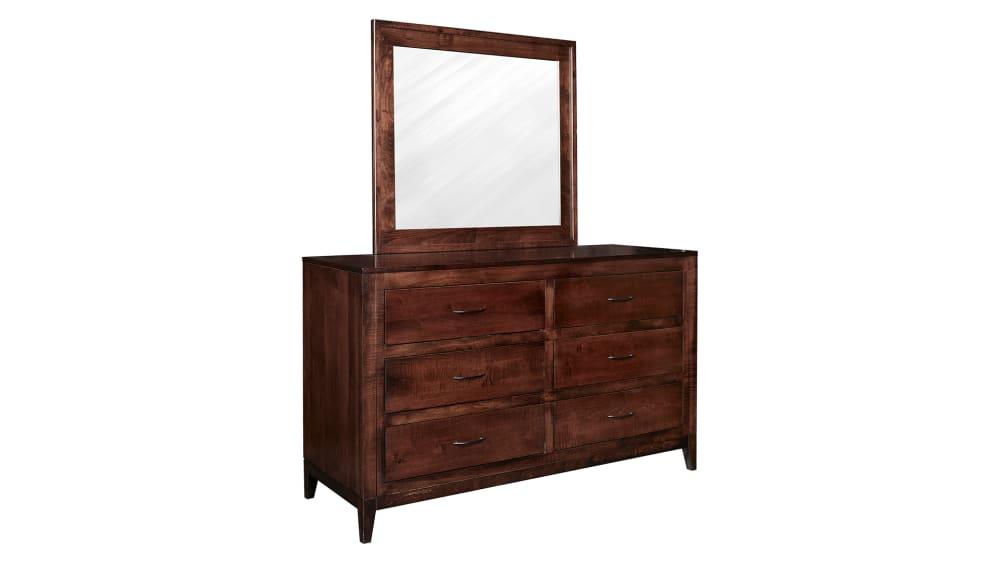 Modern Cherry Dresser and Mirror, , hi-res