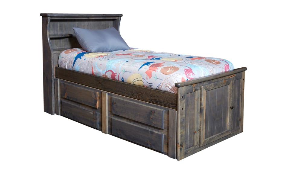 Turkey Creek Rustic Gray Twin Bed, , hi-res