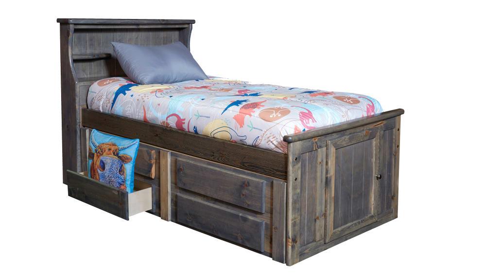 Turkey Creek Rustic Gray Full Bed