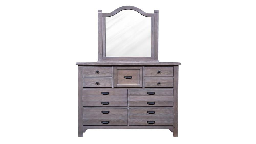 Folkstone Gray Dresser and Mirror