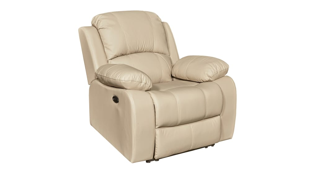 Winnfield Taupe Leather Power Motion Recliner, , hi-res