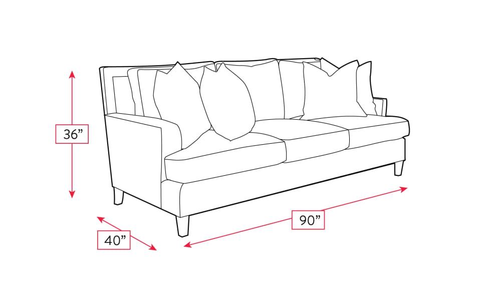 Mayo Burnheart Sofa Frame Drawing