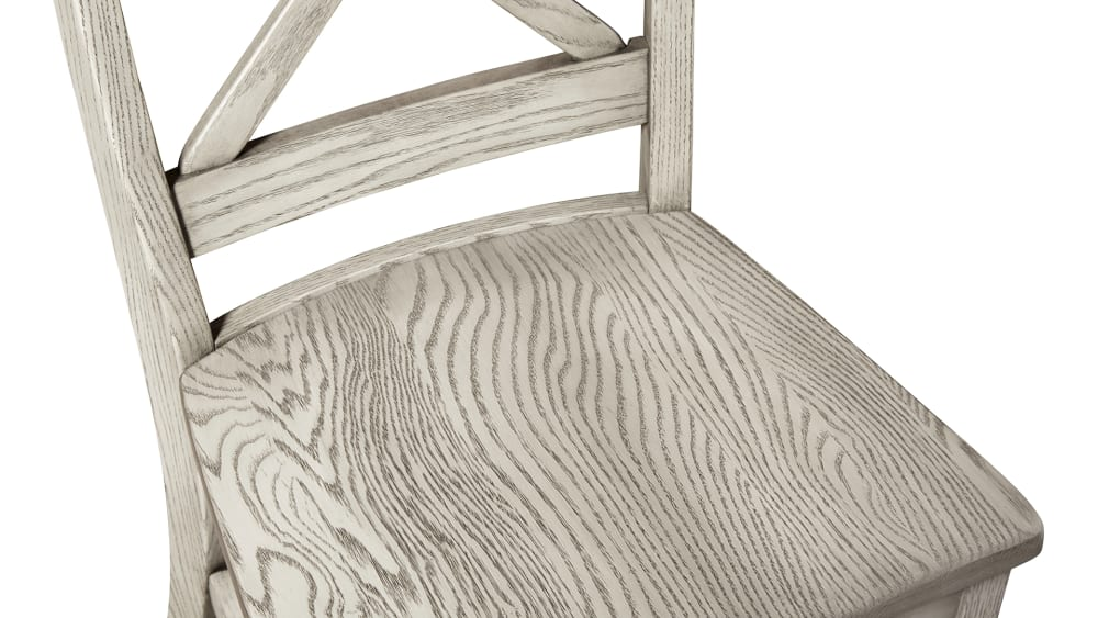X-Back Grey Side Chair